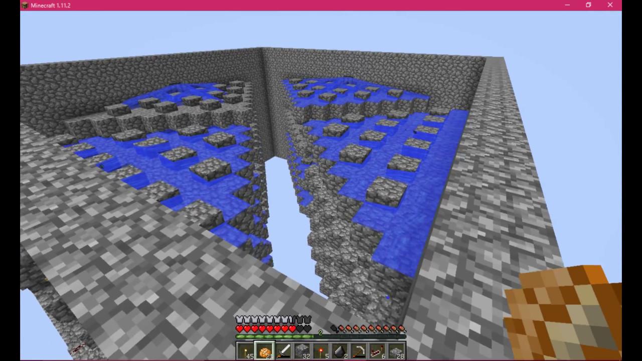 トラップ タワー 水流 マイクラ