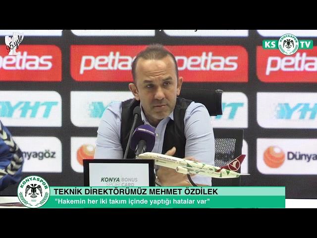Teknik Direktörümüz Mehmet Özdilek'in Beşiktaş maçı sonrası açıklamaları