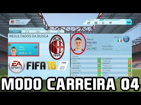 FIFA 16 MODO CARREIRA - VERRATTI NO MILAN?? #04 - TEMPORADA 3