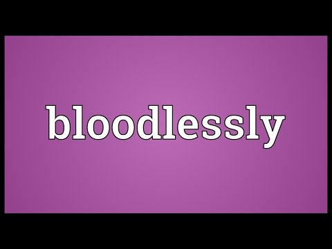 Header of bloodlessly