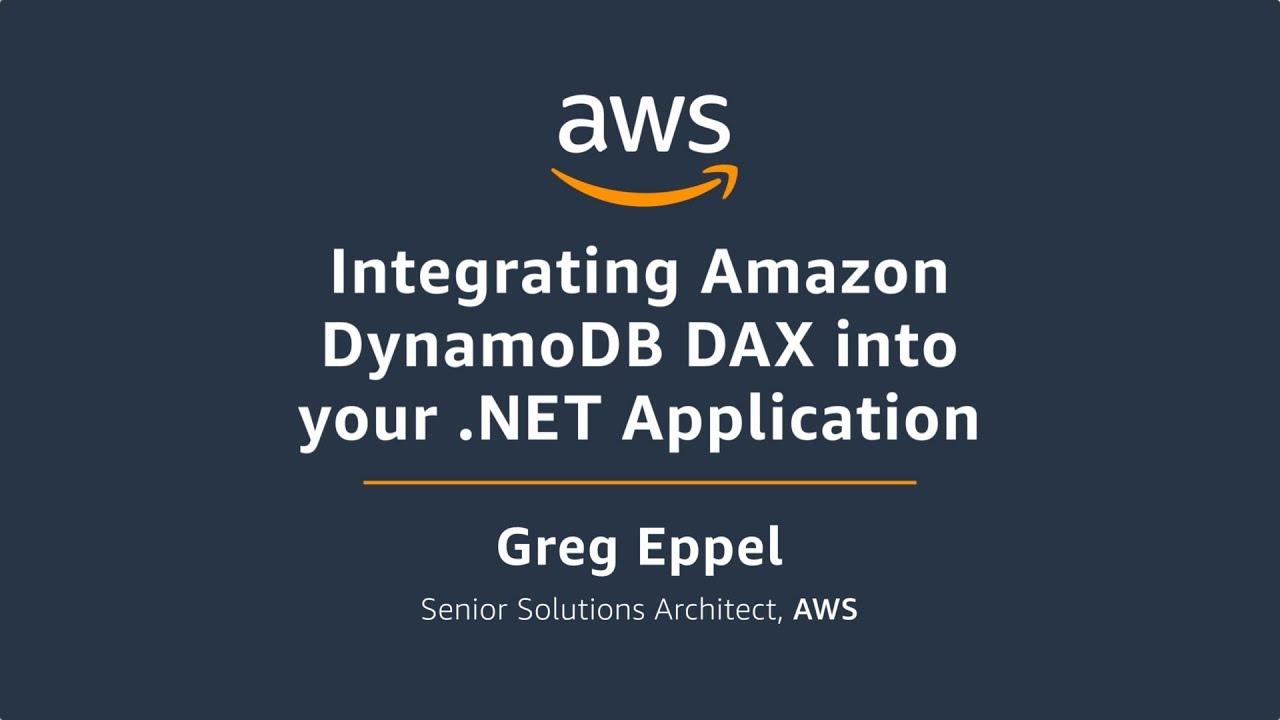 Integrating Amazon DynamoDB DAX into Your ASP NET Application