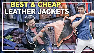 Kaha se KHAREEDE leather jackets? Jackets starting from rs2500! 😲