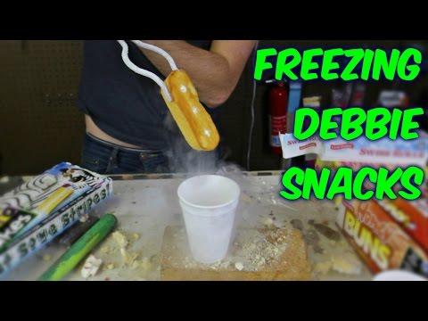 Freezing Little Debbie Snacks with Liquid Nitrogen