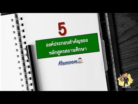 5 องค์ประกอบสำคัญของหลักสูตรสถานศึกษา