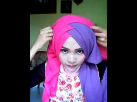 tutorial hijab segi empat pesta syar'i dan pesta simple.
