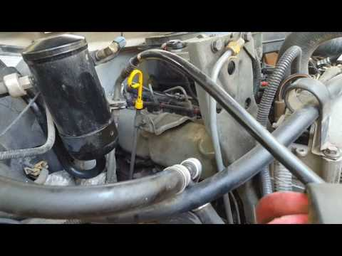 1993 7.3 IDI Fuel Filter Change - YouTube