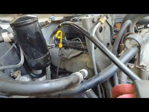 1993 73 IDI Fuel Filter Change  YouTube