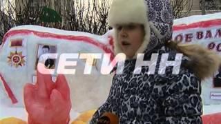 Снежные скульптуры в честь 70-ти летия Великой Отечественной войны.