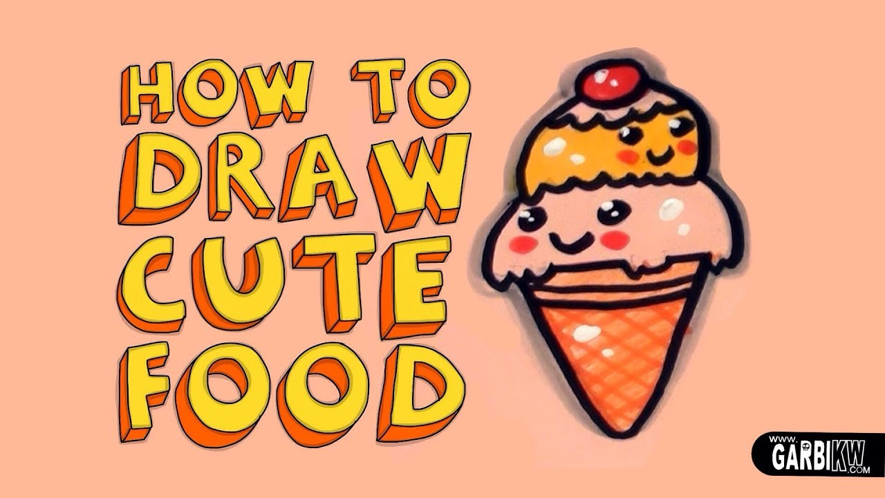 How To Draw a Cute Ice Cream - Kawaii Food - Easy Drawings ...