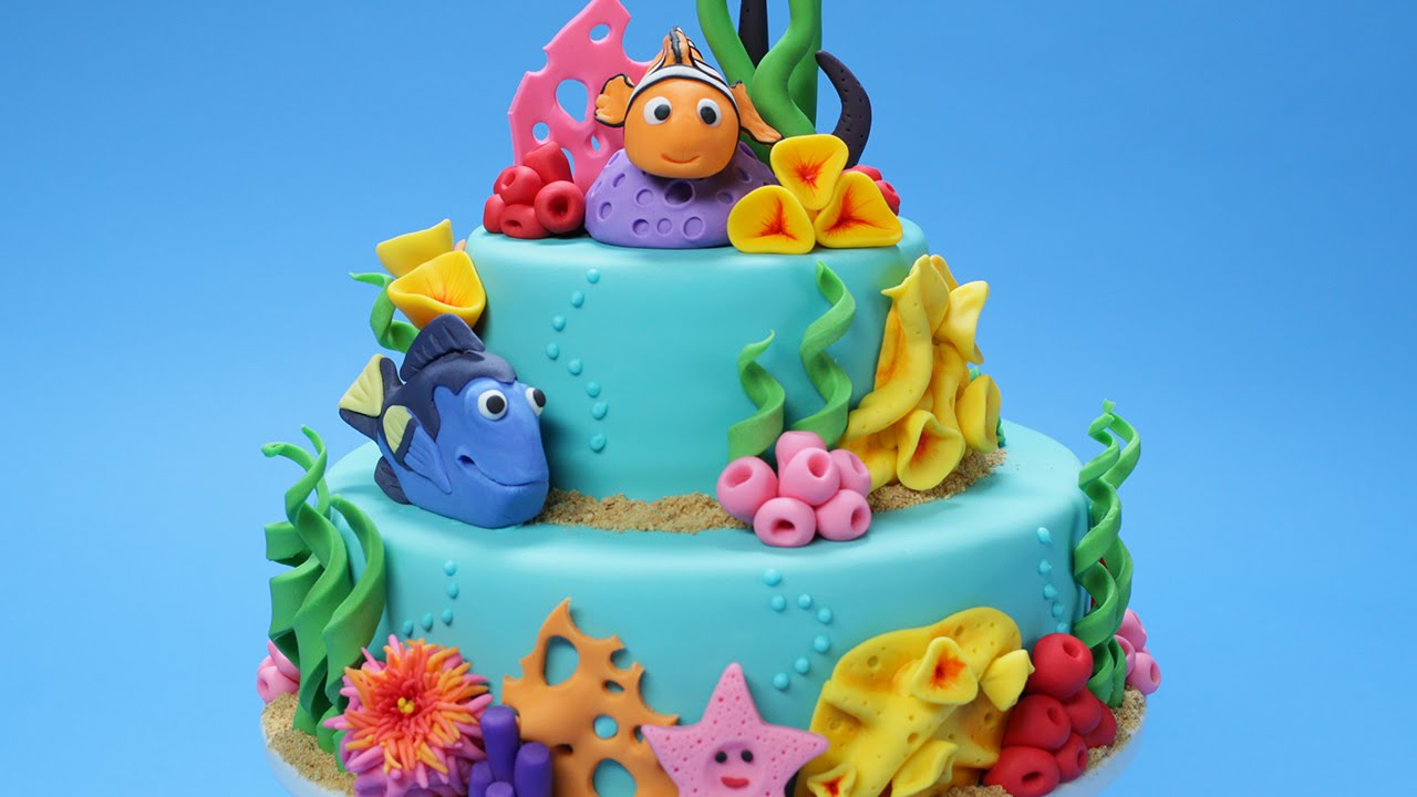 2 Year Old Little Girls Happy Birthday Wallpaper Finding Nemo Cake Nerdy Nummies Youtube