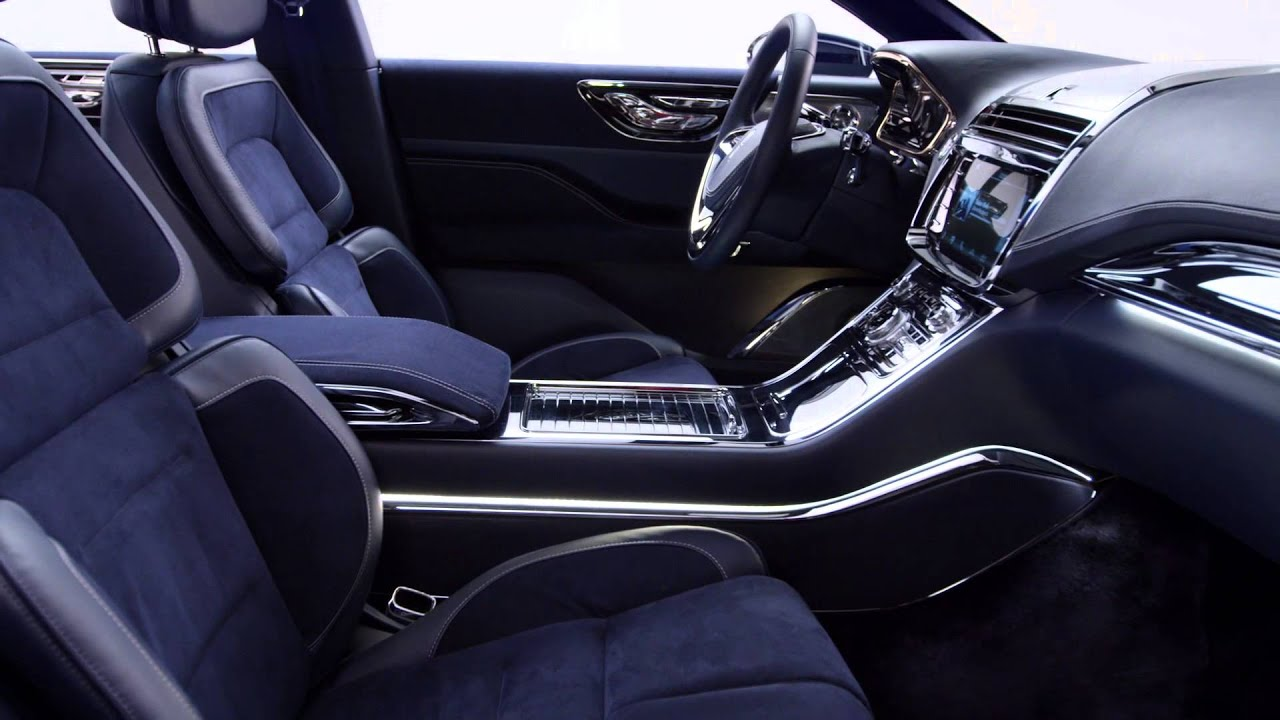lincoln continental concept for 2015 ny auto show interior youtube. Black Bedroom Furniture Sets. Home Design Ideas