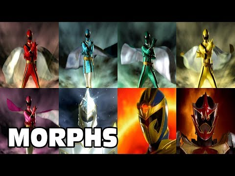 Power Rangers Official | Mystic Force - All Ranger Morphs