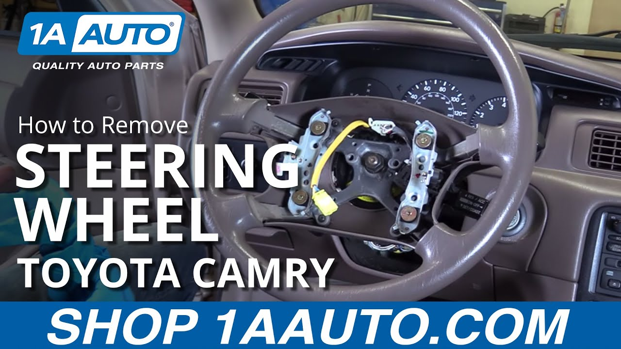 How to Remove Reinstall Steering Wheel 98 Toyota Camry ...