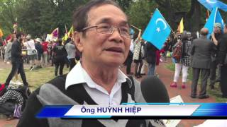 PHÓNG SỰ ĐẶC BIỆT: Nhiều cộng đồng biểu tình phản đối Trung Cộng trước Tòa Bạch Ốc