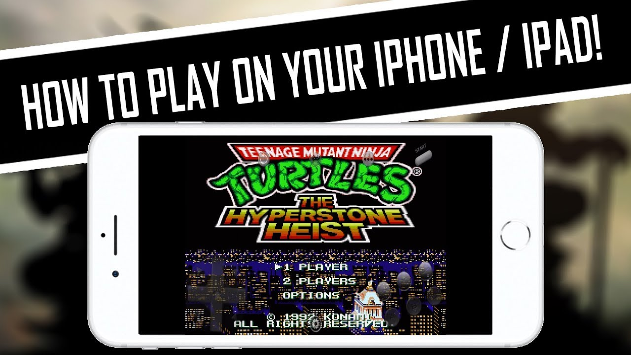 HOW TO PLAY TMNT: The Hyperstone Heist (Genesis) on iPhone, iPad, iPod, iOS  Setup/Tutorial/Settings