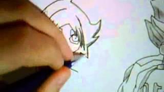 How to draw Axel Blaze(Gouenji) and Shawn Froste(Fubuki)