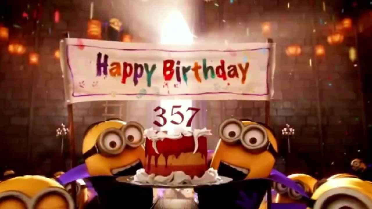 Happy birthday Minions Song 2 in 1 - YouTube