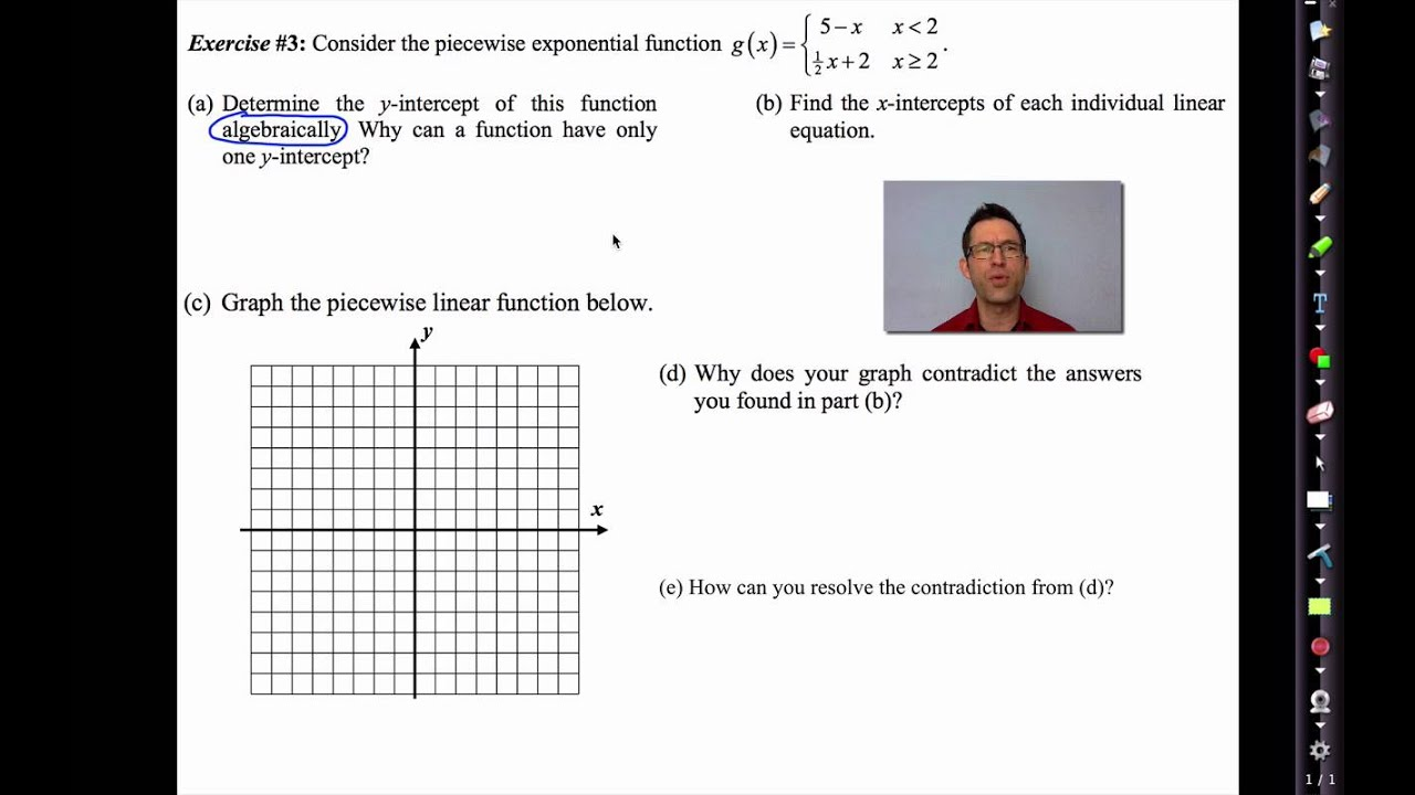 Common Core Algebra II Unit 3 Lesson 6 Piecewise Linear Functions