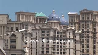 Powai, Mumbai circa 2004: IIT Powai, Hiranandani Hospital, Fiat Padmini taxi, diesel buses