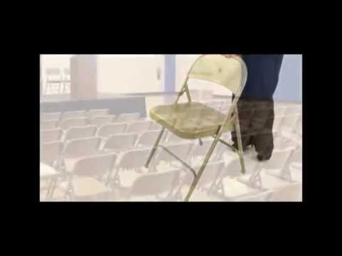 National Public Seating 50 Series NPS Folding Chair Demo