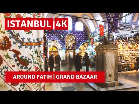 Istanbul City Walking Tour|Around Fatih,Grand Bazaar|16 April 2021|4k UHD 60fps