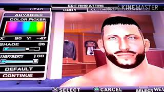 wwe svr2011 PS2 how to create Finn balor new caw