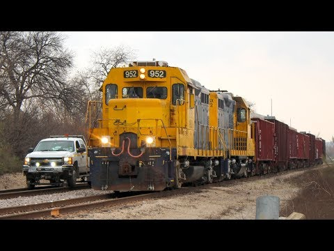 A Herzog ballast train and more on the BNSF Madill Sub