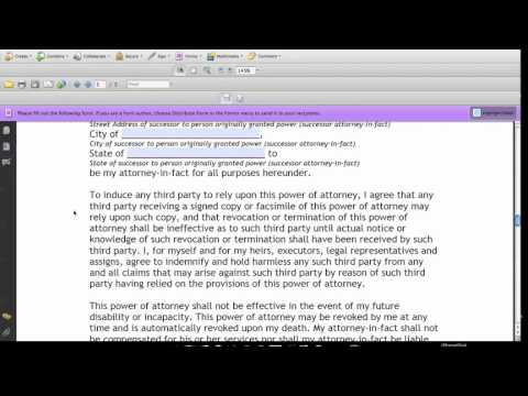 How to Fill Out General Power of Attorney Form - YouTube - general power of attorney forms
