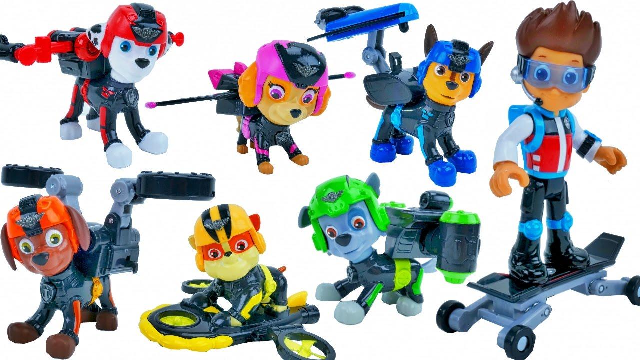 Paw Patrol Mission Paw Toys Ryder Chase Marshall Skye Zuma Rubble
