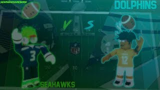 SuperBowl S1 NFL!! Dolphins de Miami - Seattle Seahawks ROBLOX