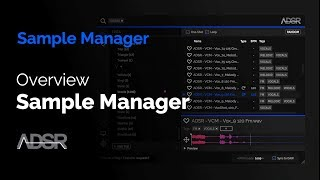 Overview of ADSR Sample Manager ( + FREE plug-in Download )