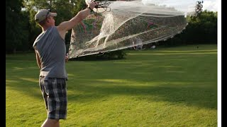 Easy Way to Throw a Cast Net! Throwing The Easy Way!