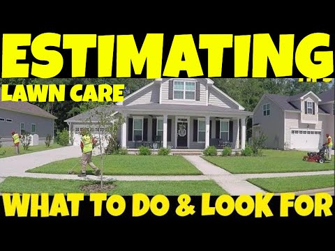 What to LOOK FOR and DO when giving a lawn care quote