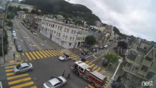 Car hits San Francisco Fire Truck