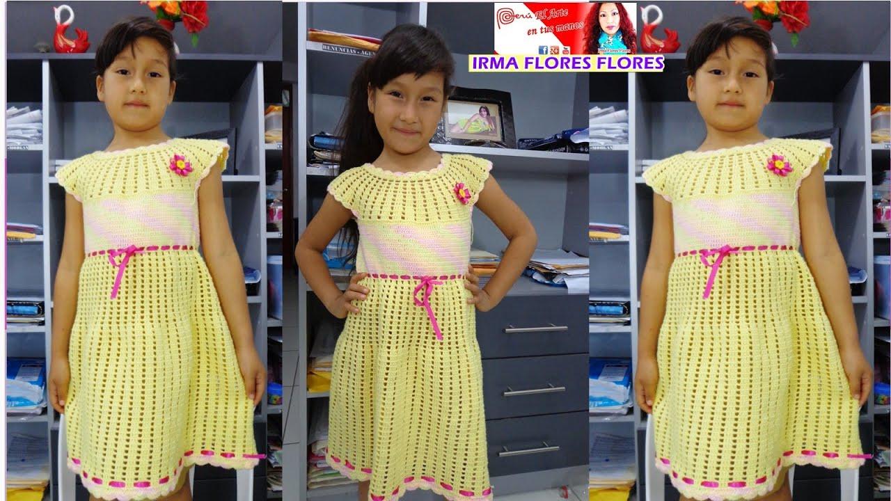 Como hacer un vestidos para ni a b sico a crochet paso a - Como hacer un estor enrollable paso a paso ...