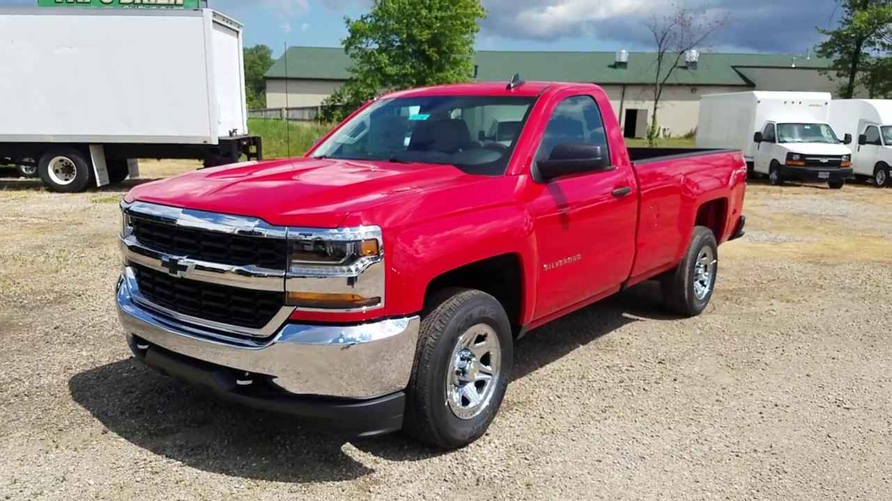 2017 chevy silverado 1500 ls regular cab red hot full review youtube. Black Bedroom Furniture Sets. Home Design Ideas