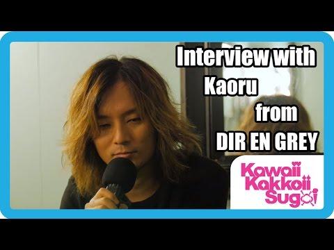 Kaoru (DIR EN GREY) Interview [The Mayan, Los Angeles 2015]