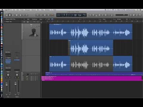 Logic Pro X - Video Tutorial 05 - Quick Punch, Punching In Vocals