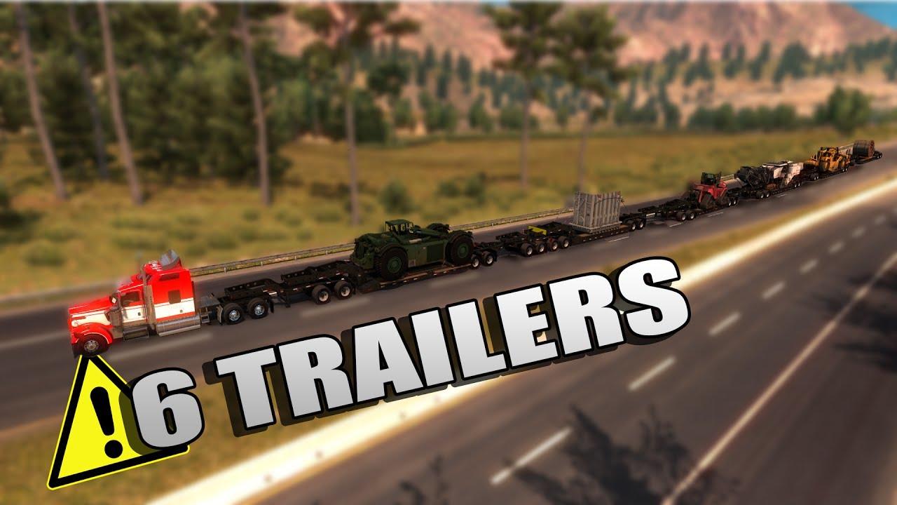 Tren De Carretera Con 6 Remolques El Cami 243 N M 225 S Largo