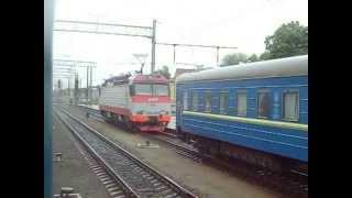 Из окна поезда:прибытие на станцию Конотоп