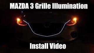 Mazda 3 Grille Illumination - Install Video