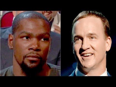 Kevin Durant ANGRY at Peyton Manning
