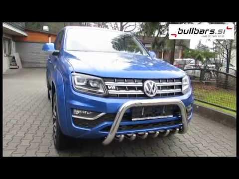 VW Amarok V6 with bullbar, ALU roller and winch by Bullbars si