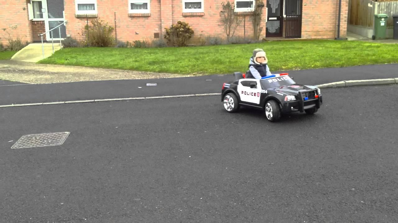 dodge police interceptor 12v kids ride on car
