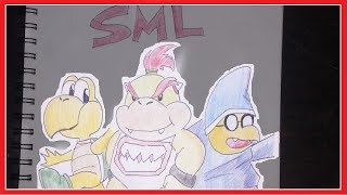 Speed Drawing Bowser Jr., Joseph, and Cody From SML!