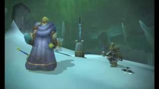 Arthas takes Frostmourne. Wotlk ingame recording.