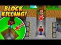 BLOCK KILLING PLAYER TRAP! - Minecraft SKYWARS TROLLING (INSANE!)