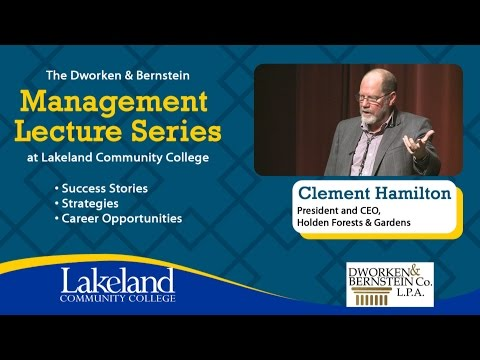 Management Lecture Series - Clem Hamilton, Holden Forests and Gardens