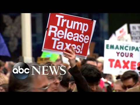 Thumbnail: Trump asks who paid for Tax Day protests