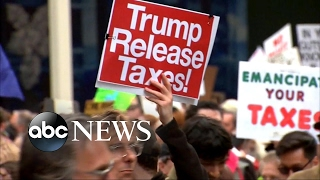 Trump asks who paid for Tax Day protests